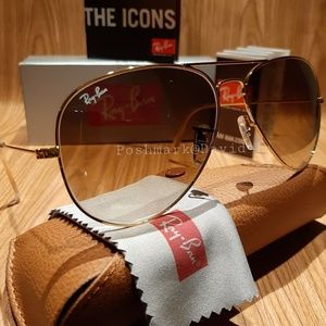 Ray-Ban Aviator Brown Gradient / Gold frame